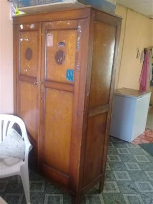 Wooden 2 door closet for sale