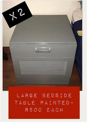 Large painted bedside table