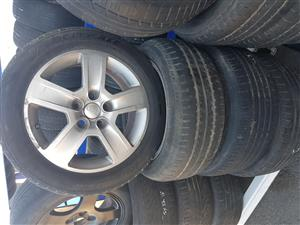Audi Mag Rims and Tyres 205.55R16