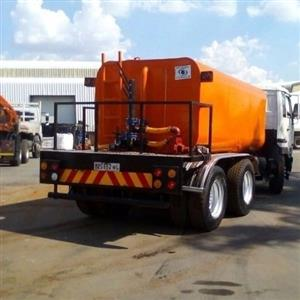 water tanker installations with hydraulic