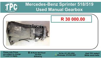 Mercedes-Benz Sprinter 518/519 Used Manual Gearbox For Sale.