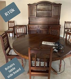 8 Seater complete dining set for sale