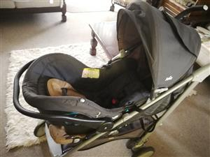 Baby pram and car seat combo