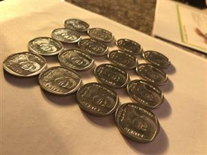 R5 Year 2000 Mandela Smiley Coins R150 each