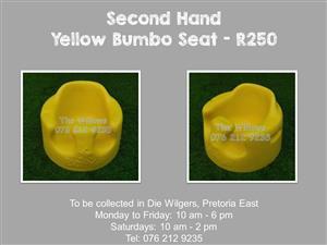 Second Hand Yellow Bumbo Seat