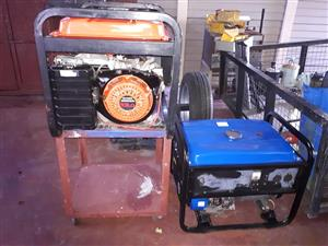Orange and blue generators for sale