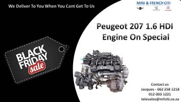 Peugeot 207 1.6 HDI Engine for sale