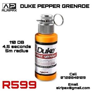 Self-defence pepper grenade