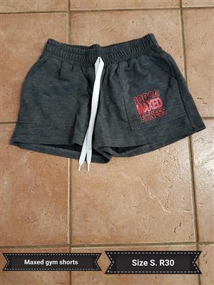 Maxed size s grey gym shorts
