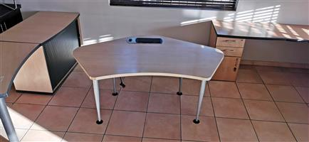 Maple office desk
