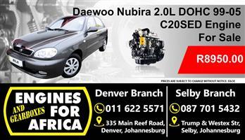 Daewoo 2.0L C20Sed Dohc 99-05 Engine For Sale