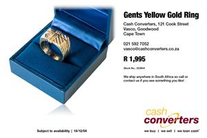 Gents Yellow Gold Ring