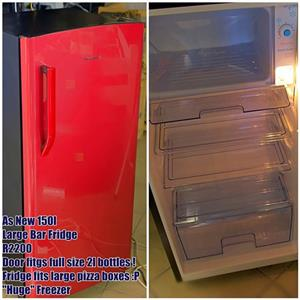Large red bar fridge