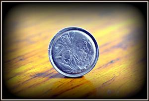 Very rare 20 sent coin