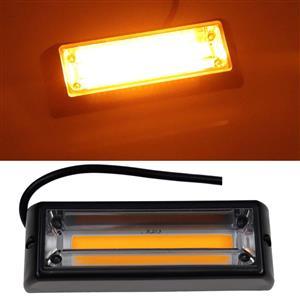 Amber / Orange COB LED Emergency Hazard Warning Flash Strobe Lights 12V. Brand New Products.