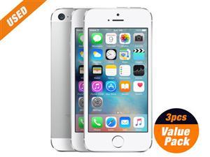 Used 3pcs of Apple iPhone5s 16GB Silver 4inch SIM Unlocked
