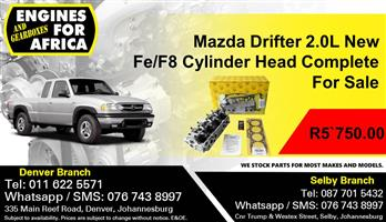 Mazda Drifter 2.0L Fe/F8 Cylinder Head Complete For Sale