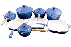 La Fermete 13 Piece Cast Iron Enamel Cookware Pot Set