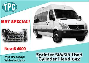 Mercedes Benz Sprinter 518/519 Used Cylinder Head 642 Sale at TPC