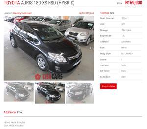 2013 Toyota Auris XR HSD
