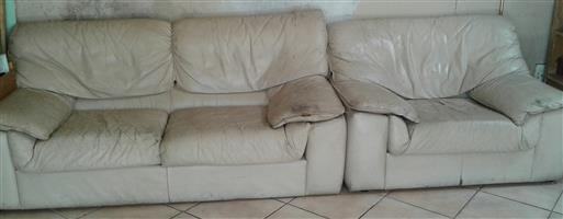 Leather 2 seater and single seater