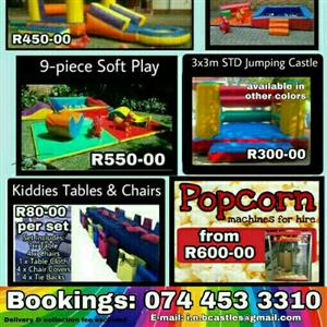 Jumping Castles, Water Slides and Soft Play Equiptment for hire