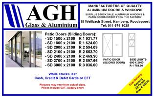 ALUMINIUM SPECIALS ON SLIDING DOORS