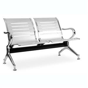 Public Seating 2 Seater - Silver Seating | Office Stock