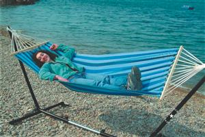 BLUE STRIPE HAMMOCK ( STAND NOT INCLUDED)! AMAZING DEALS!