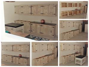 Kitchen Cupboard Farmhouse series 4000 Combo 1 Raw