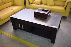 Dark wooden middle table with mini drawers