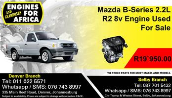 Mazda B-Series 2.2L R2 8v Engine Used For Sale.