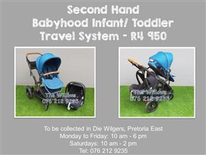 Second Hand Babyhood Infant/ Toddler Travel System