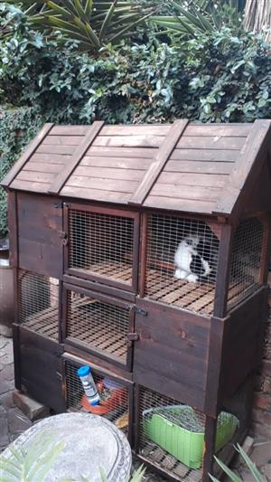 Triple storey rabbit hutch for sale
