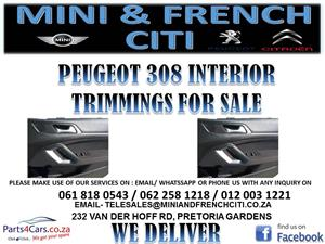 PEUGEOT 308 INTERIOR TRIMMINGS FOR SALE