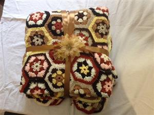 Brand new Hand Crochet Quilts