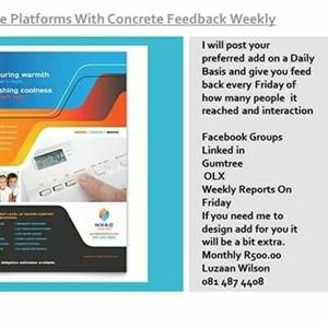 Placing adds to grow your Business Daily with Feedback weekly