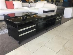 2m Wood and Glass Plasma stand TV-84