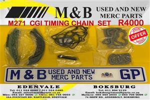 MERCEDES BENZ M271 KOMPRESSOR OR CGI CAM GEARS AND TIMING CHAIN KIT