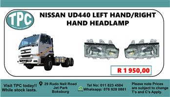 Nissan UD440 Left Hand/Right Hand Headlamp - For Sale at TPC