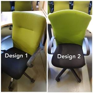 Lime and Black Highback Office Chairs