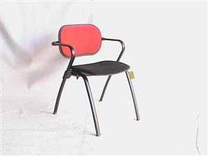 Black/Red visitor fabric chair