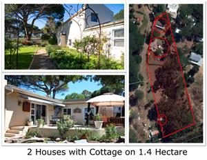2 Homes & a Cottage on 1.4 Ha land in Somerset West