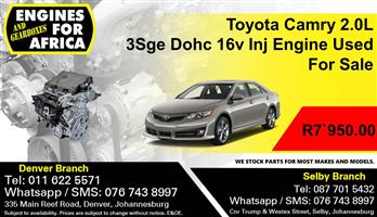 Toyota Camry 2.0L 3Sge Dohc 16v Inj Engine Used For Sale.