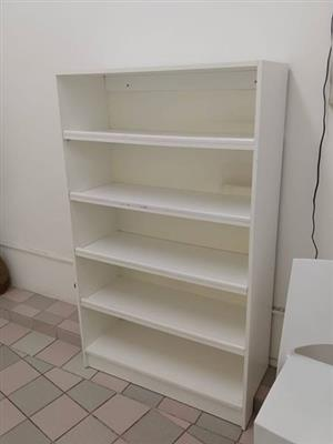 5 Tier white office shelf