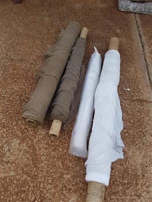 Wit en bruin rolle materiaal