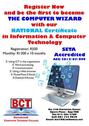 Institute of Future Technology  - Bonalesedi Computer College