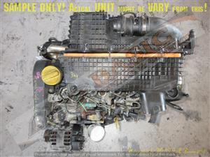 RENAULT -K9KA704 1.5 DCI 16V Engine -Starter on Turbo