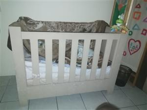 Big Wooden baby Cot for sale