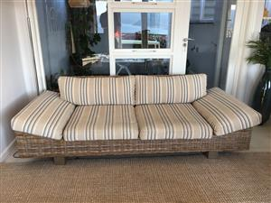 Coricraft cane lounge couch and chair